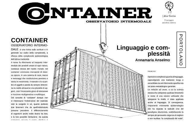 Container A, ottobre 2019 Image